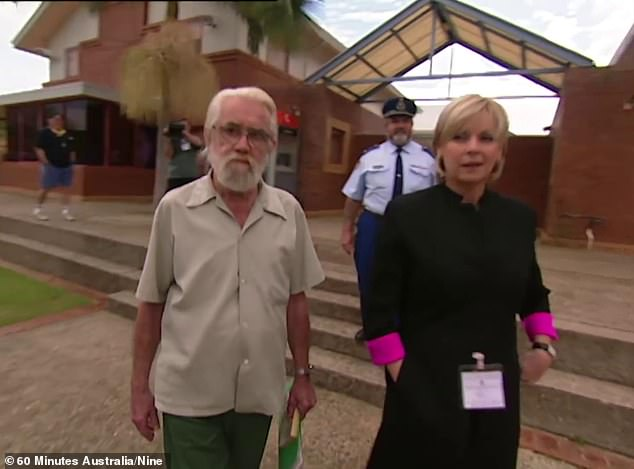 Lawson was unable to explain the origins of his criminality when interviewed by 60 Minutes in 1999 (pictured). 'Whatever happened to me mentally, I'm damned if I know,' he told reporter Liz Hayes