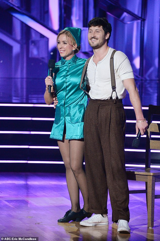 Loss: 50-year-old Texan and partner Val Chmerkovskiy only received a score of 22 for their Nurse Ratched-inspired jazz routine on a cover of Little Willie John's song Fever in 1956