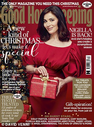 Help from a distance: Nigella told Good Housekeeping for her December issue that she still enjoys working even though she doesn't know what the 'famous' work-life balance is