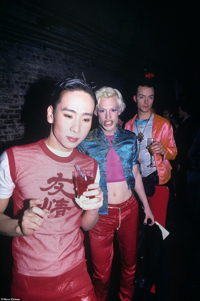 The original club kids: Sushi, Richie Rich and Zachary Augustine at the Tunnel, in 1995 were three of the original Club kids. They're see with drinks in hand walking through the massive Tunnel club, which was once an actual train tunnel. 'The club kids were the ring leaders and promoters for many of the craziest parties of the 1990s. They dress outlandish in your face styles and push the limits of androgyny and sexuality,' the author writes
