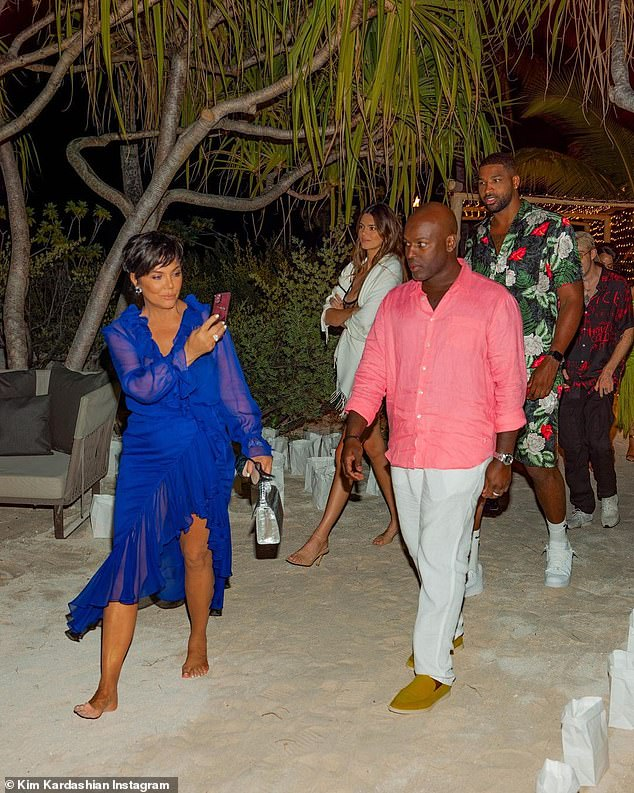 Nearest and dearest: Kendall Jenner, Tristan Thompson, Kris Jenner and Corey Gamble were among the familiar faces in attendance