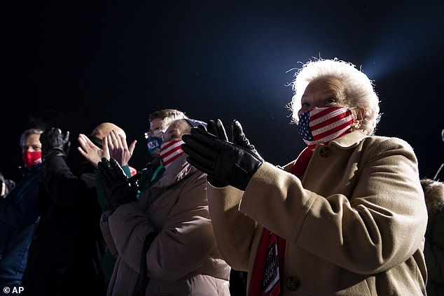 The same issue took place at Trump's campaign stop in Omaha, Nebraska on Tuesday when supporters got stranded in the freezing cold as shuttles that brought them from parking lots were no longer running