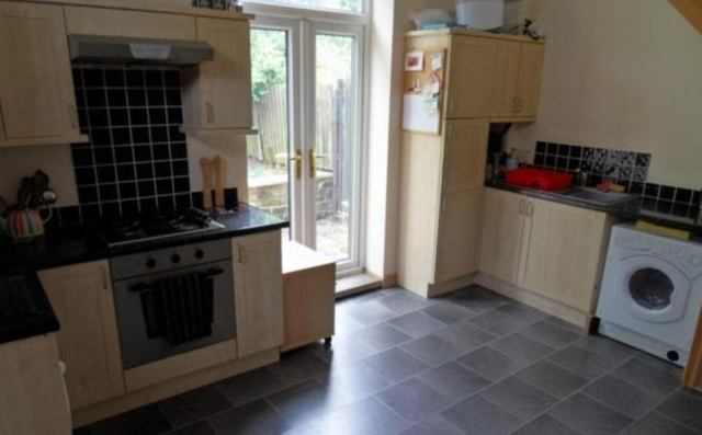 6)A two-bedroom semi-detached house for sale in Shipley, near Bradford, is on the market for £117,500 and has been listed since February 2015. The stone-built property has a lounge, kitchen diner, two first floor bedrooms and a bathroom