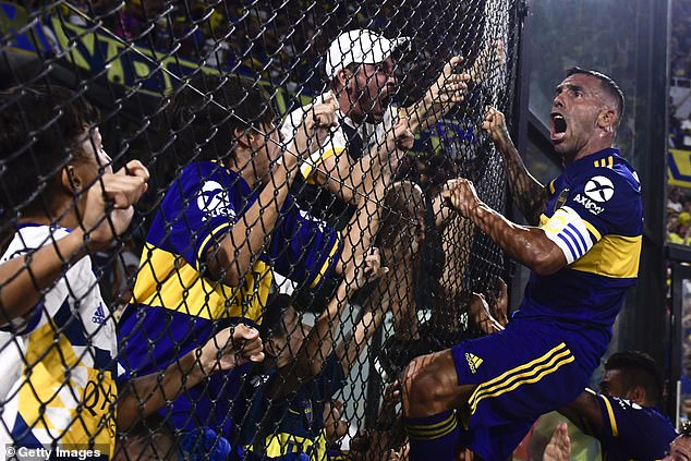Tevez went on to score the winner which sealed Boca Juniors' 34th league title