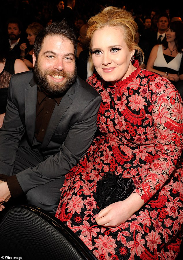 Parting ways: Adele split from Simon in April 2019, after seven years together, and the hitmaker is believed to have filed for divorce in September 2019 (pictured in February 2013)