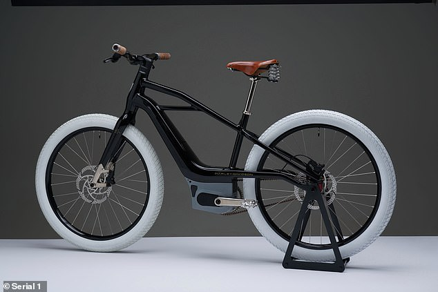 The Serial 1's white tires, sleek black design and leather grips and saddle hearken back to the company's early 20th century roots