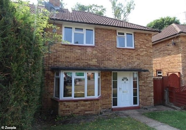 This three-bed semi-detached house in St Albans, Hertfordshire, was on the market with a guide price of £300,000 and is now sold subject to contract