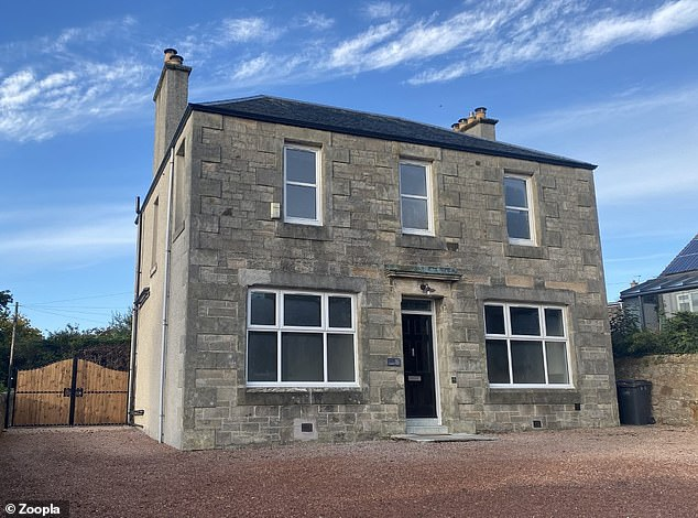 This four-bed detached house in Kirkcaldy, Fife, was on the market for offers over £309,995 and is now sold subject to contract