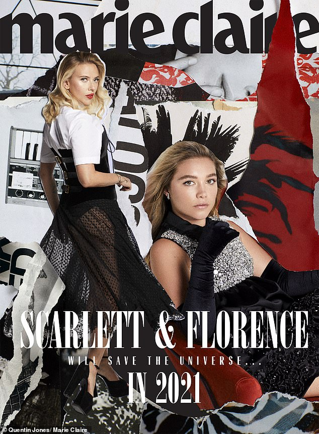 Scarlett Johansson and Florence Pugh pose for edgy Marie Claire shoot