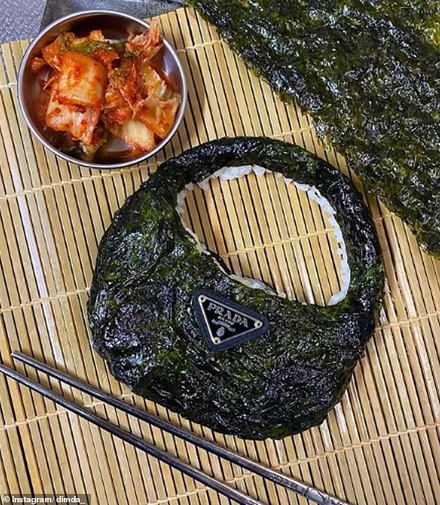 Over 17,000 Instagram users dubbedDaisuke's Prada Korean Seaweed Rice handbag as 'iconic' and said it made their day