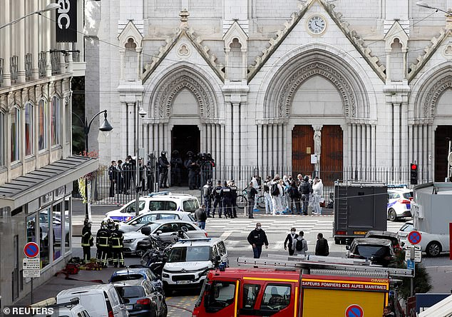 Three people were killed by a terrorist in the Notre Dame basilica in Nice at 9am last week