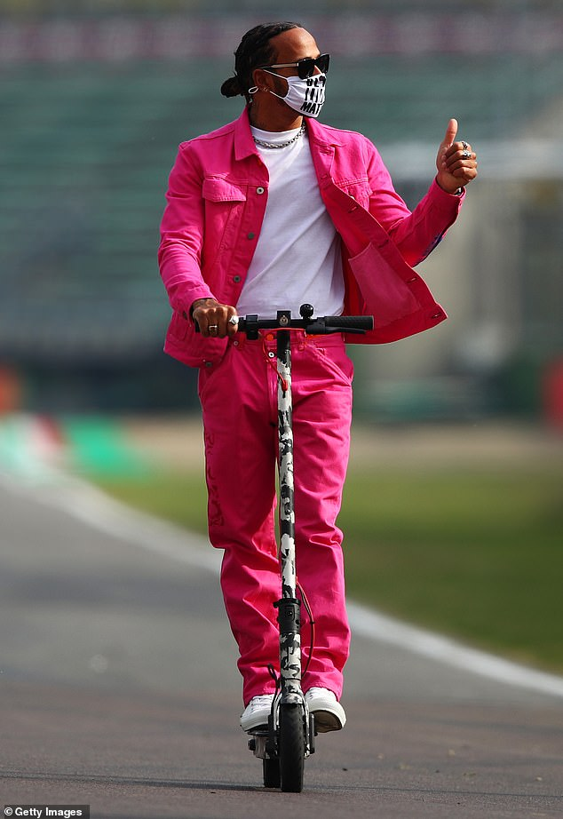 Susceptible: The Formula 1 ace grabbed attention, arguably for the wrong reasons, after venturing into a must-have hot pink jacket and matching jeans