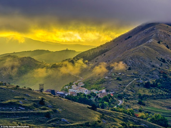Town of Santo Stefano di Sessanio in Abruzzo, Italy.Mayor Fabio Santavicca said that he wanted to 'enable the village to continue to live'