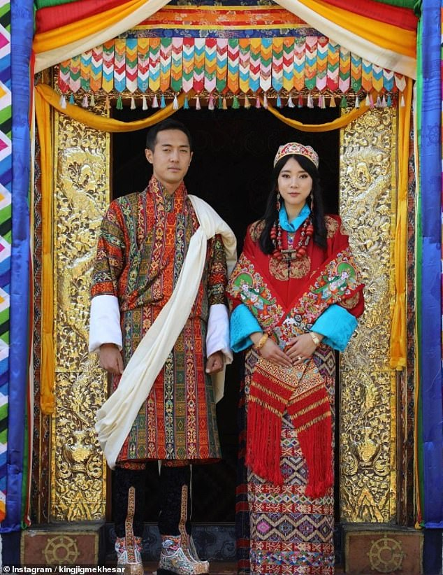 The new photographs have been released days after the younger sister ofKing Jigme Khesar Namgyel Wangchuck of Bhutan, 40, Princess Eeuphelma, 27, married her long-time boyfriendDasho Thinlay Norbu, 28 in a secret ceremony