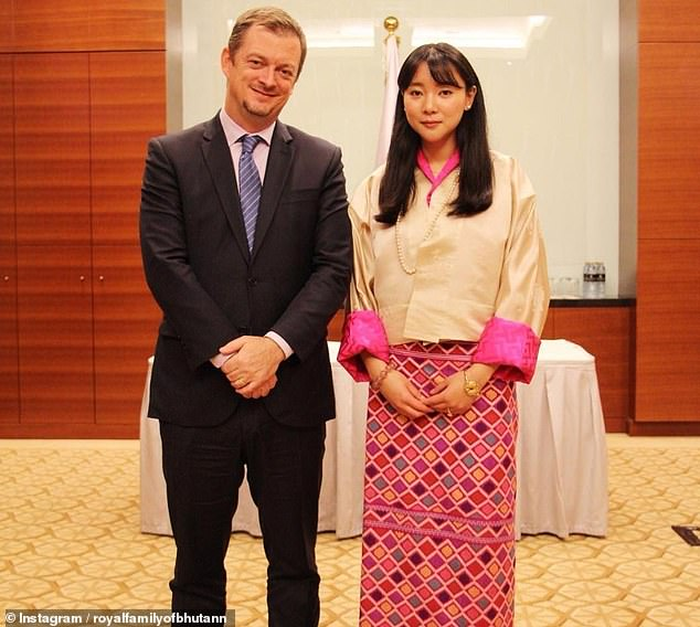 Princess Eeuphelma photographed withMr. Andrew Parsons, the President of the International Paralympic Committee in February 2019. She is President of the Bhutan Paralympic Committee