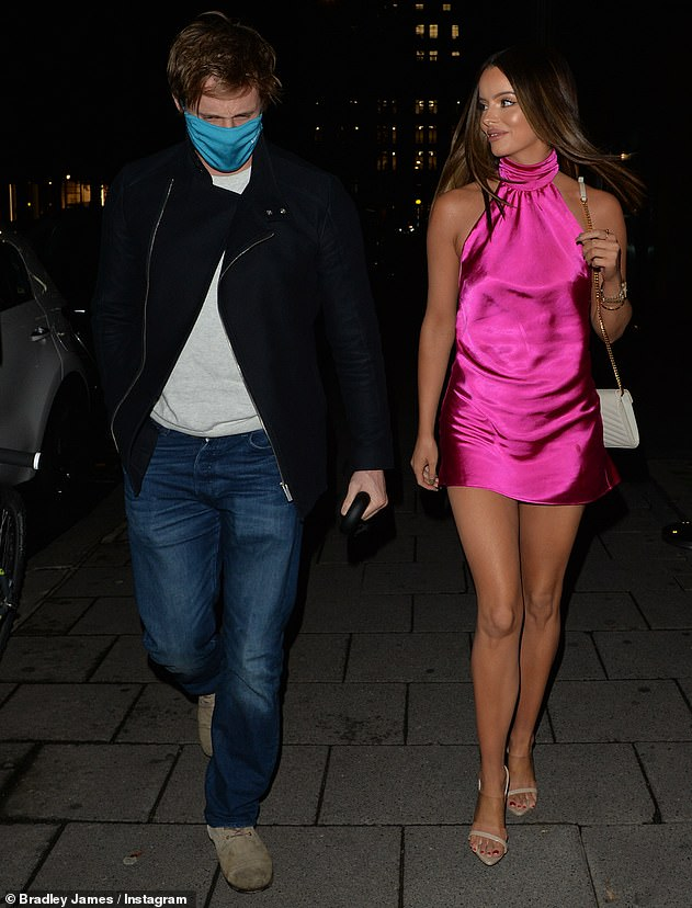 Rendezvous night! Maura Higgins looked sensational in a pink mini dress when she stepped out in London with the Devon-born actor on Tuesday