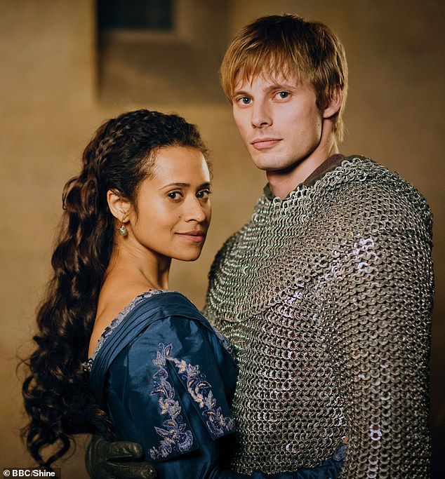 A case of the ex: He was previously in a relationship with Merlin co-star Angel Coulby (40), with whom he has been together since 2011 (picture 2012).