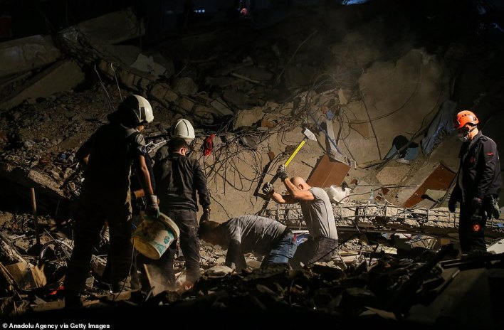 According to Turkey's disaster agency at least 21 people are dead and 725 injured after the catastrophic earthquake