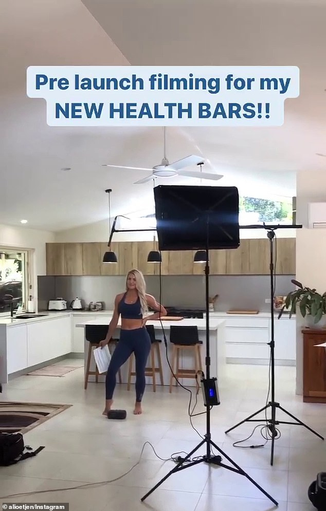 New gig: On Friday, former Bachelorette Ali Oetjen (pictured) revealed that she is launching her own line of health bars off the back of her success on SAS Australia