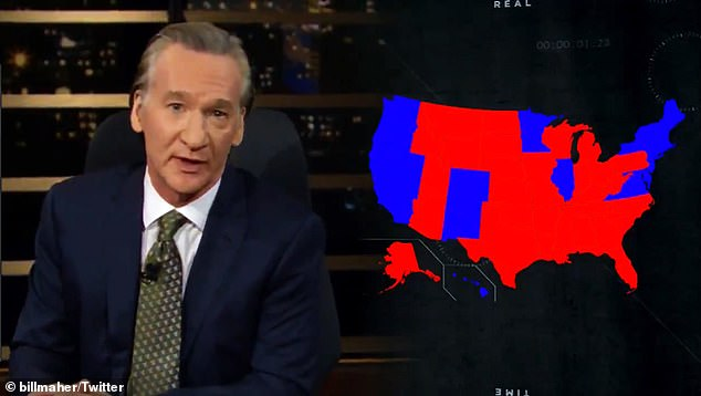 Maher said there were no such things as blue or red states - only purple states