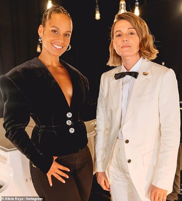 Beautiful duet: Alicia Keys teamed up with Brandi Carlile as they gave a powerful performance of their voting anthem A Beautiful Noise, closing out Global Citizen's Every Vote Counts: A Celebration of Democracy