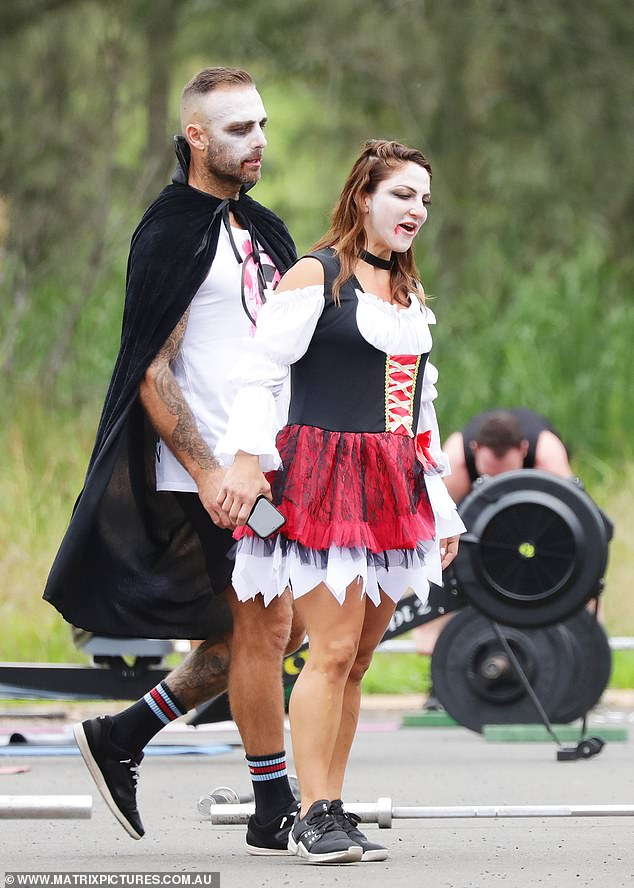 The couple who scares together! Alongside him was his girlfriend, fitness trainer Harika Vanculenberg