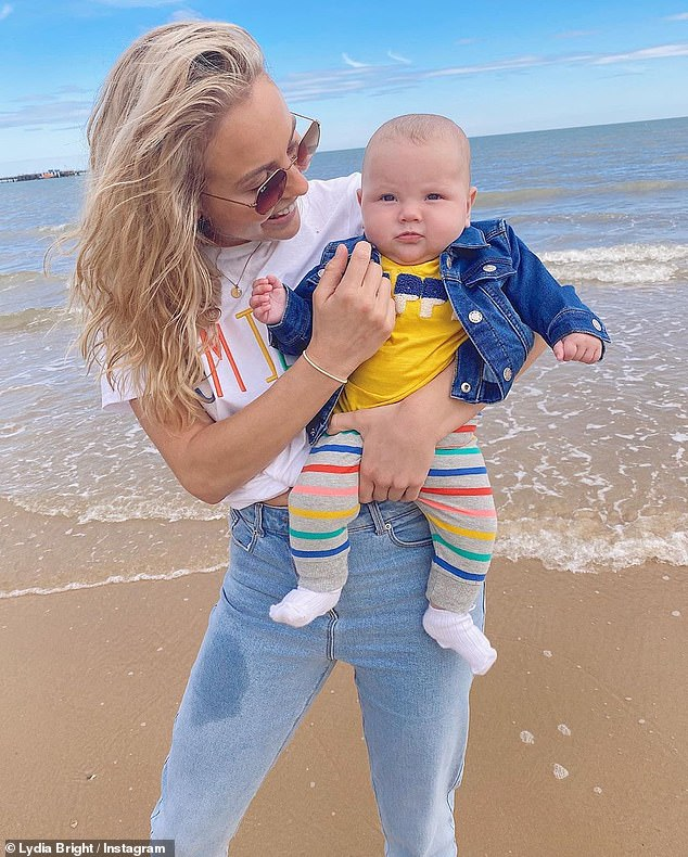 Candid: Lydia, who co-parents Loretta with her on-off boyfriend, garage owner Lee Cronin, previously revealed details of her birth, saying it wasthe water birth she'd 'always dreamed of'