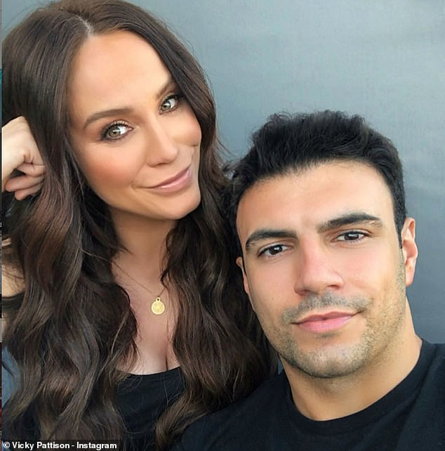 In love: The former Geordie Shore star, 32,confirmed she was dating the former TOWIE star, 32, in 2019, and the pair have been spending quality time together during the pandemic