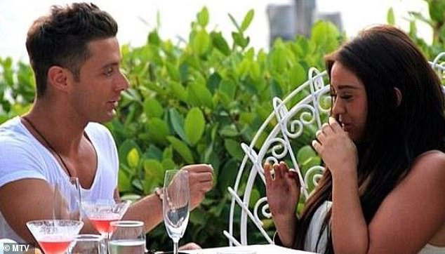 Down on one knee: Vicky's first engagement came from Geordie Shore co-star Ricci Guarnaccio who proposed to her during a Cancun MTV special in 2012