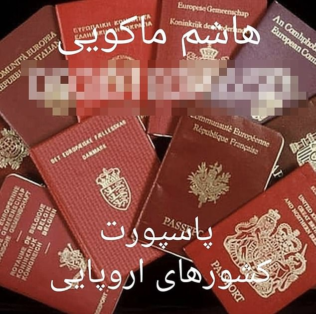 One smuggler has posted images offering passports from Britain, Ireland and Denmark among others