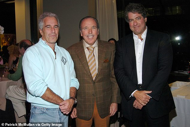 Pictured (left to right): Jeffrey Epstein, Pepe Fanjul and Leon Black attend Sony Pictures Classics Presents CAPOTE hosted by Dominick Dunne at Sony Screening Room on September 28, 2005 in New York City