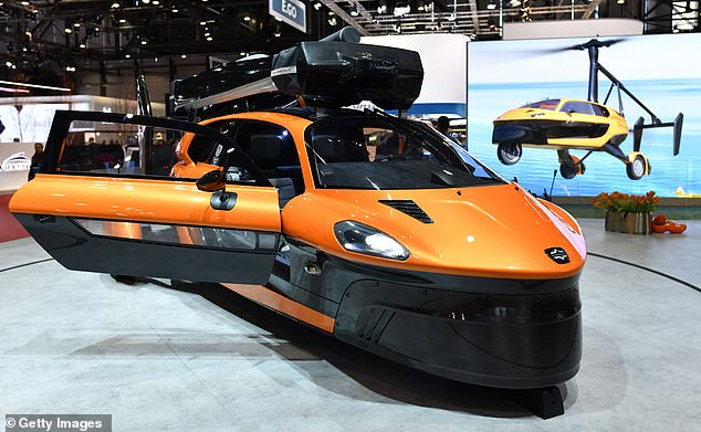 The PAL-V Liberty has been cleared for lift off by Europe's motor vehicle regulator, who gave its Dutch creators permission to register the machine as a car. Pictured, in 2019