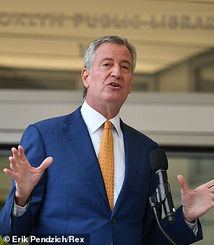 Pictured: New York City Mayor Bill de Blasio