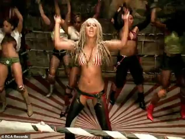 Inspo: The getup was inspired by Aguilera's iconic look from her 2002 music video for hit song Dirrty