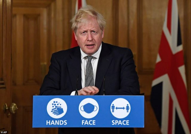 Boris Johnson effectively took the country back to square one tonight as he unveiled a dramatic new national month-long lockdown to avoid a 'medical and moral disaster' - ordering the public to stay at home