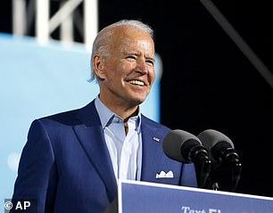Pictured: Democratic nominee Joe Bidenat the Florida State Fairgrounds, Thursday, in Tampa