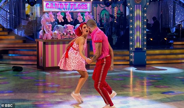 Work it! The dancing duo were praised for how hard they had worked and improved over the past week