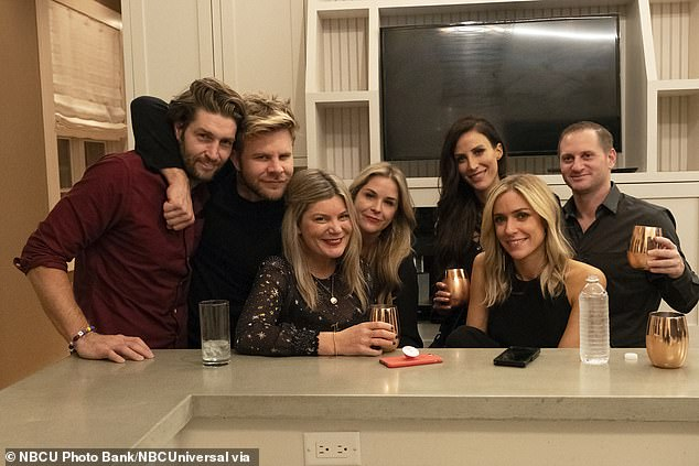Old times: Kelly hanging out with Kristin, Jay, and friends