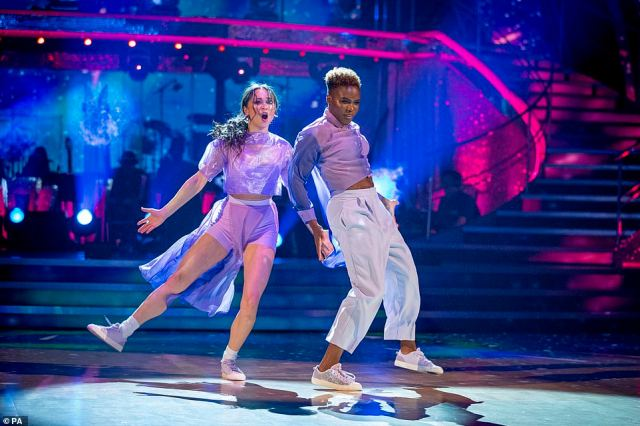 Personal: The pair performed a boxing-inspired routine which aimed to tell the story of Nicola's career