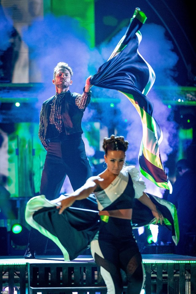 Sizzling: They looked fantastic as they completely committed to the routine and worked the dance floor