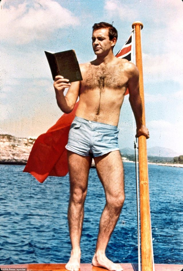 A lithe Sean Connery in 1965's Thunderball, which was filmed in Nassau in the Bahamas where he died earlier this weekend