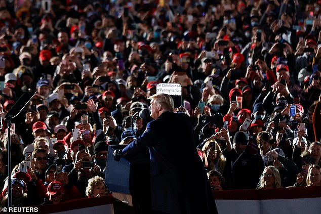 President Donald Trump addresses supporters in Butler Pennsylvania, his third of four rallies in Pennsylvania - a key swing state - on Saturday