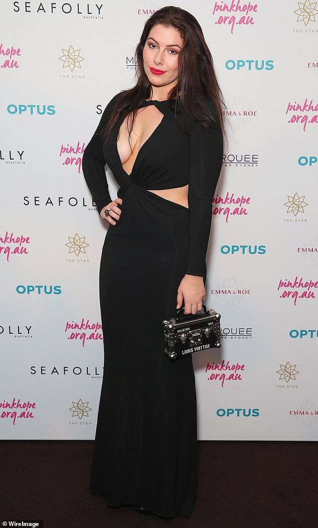 Congratulations! Billionaire heiress Francesca Packer, 25, (pictured) was spotted purchasing a $9,000 cavoodle from a pet store in Sydney's Bondi Junction last Thursday
