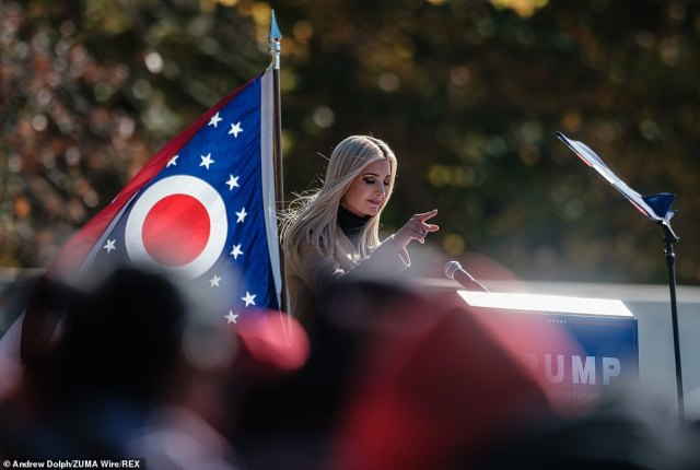 """""""It's Halloween, so I was planning on getting one of those magic wands to bring jobs back to Ohio,' she said during a visit to Canfield, Ohio"""