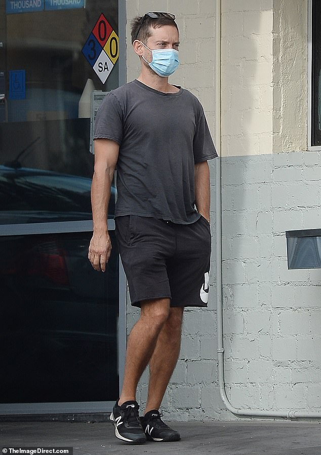 Public sighting: Tobey Maguire was seen out in LA for the first time since news of his divorce from estranged wife Jennifer Meyer on Saturday