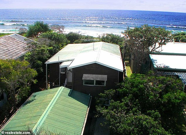 That view! The two bedrooms are of medium size with the property sitting on 405sqm of beachfront property in Wooli, a hamlet near Coffs Harbour
