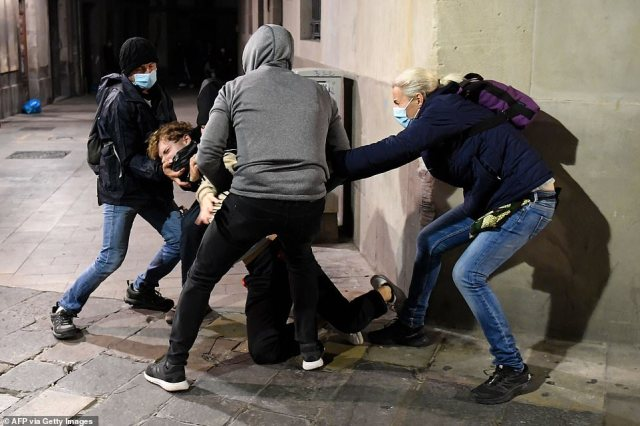 In Spain, prime minister Pedro Sánchez on Saturday condemned a series of violent protests in cities across the country against restrictions imposed to curb the surge of COVID-19 after a six-month state of emergency came into effect this week
