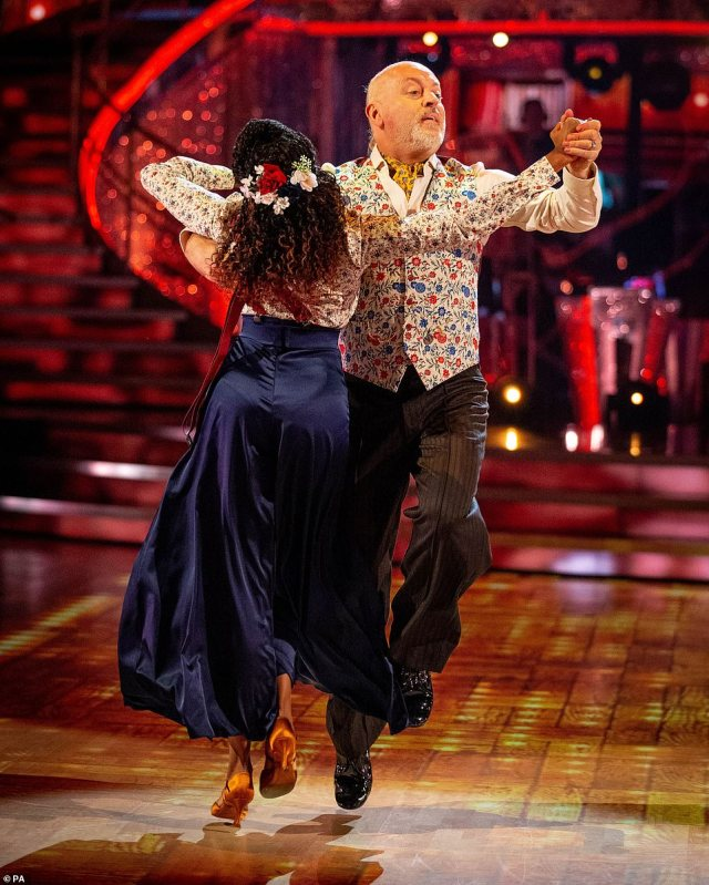 Smooth: The comedian and Oti looked fantastic as they glided around the dance floor