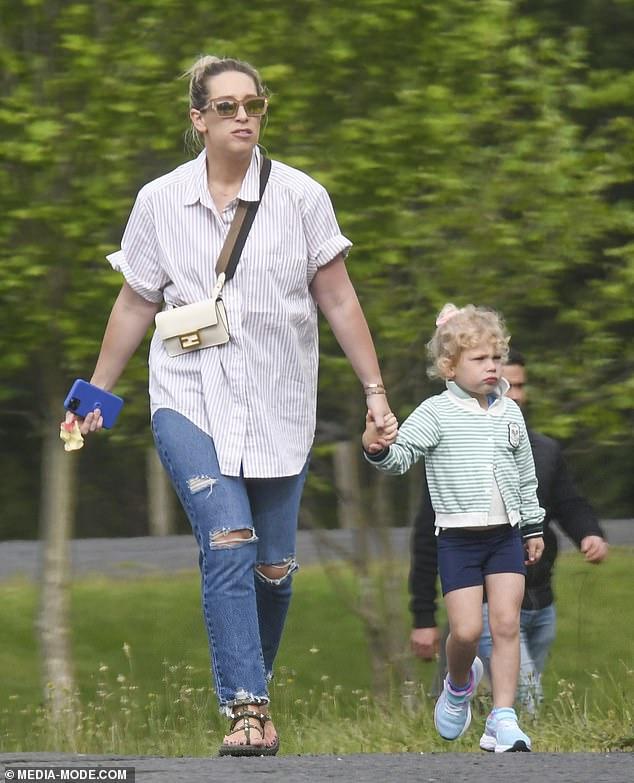Expensive tasteThe busy Instagram influencer carried her belongings in a cross-body Fendi handbag, worth around $2,000