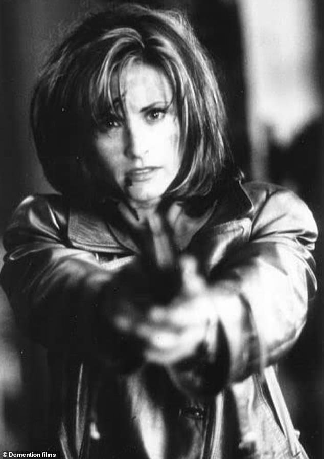 Mainstays:David and Courteney co-starred in all four Scream movies, the first of which bowed in 1996 (pictured) and the most recent of which was released in 2011